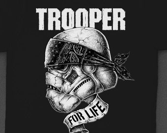 "Star Wars ""Trooper for Life"" Bandana - Tshirt"
