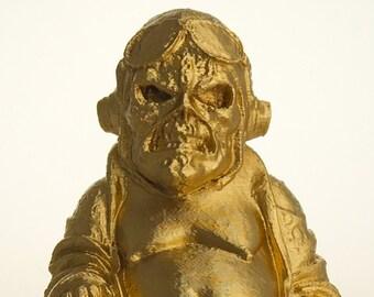 """Iron Maiden Eddie Buddha """"Aces High"""" (Brilliant Gold)"""