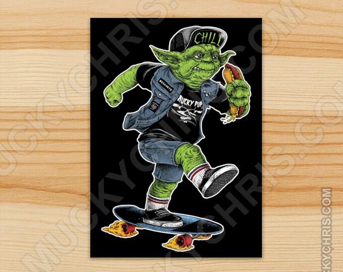Yoda Skater - Sticker