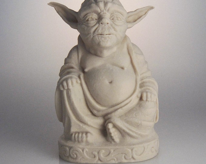 Star Wars Inspired Yoda Buddha | Star Wars | Yoda Figurine | Star Wars Gift | Force Be With You | Star Wars Statue | Desert Sand