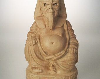 "Iron Maiden Eddie ""Powerslave"" Buddha (Antiqued Sand)"