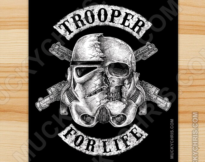 Trooper for Life - Sticker