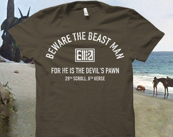 """Planet of the Apes Tshirt """"Beware the Beast Man..."""""""