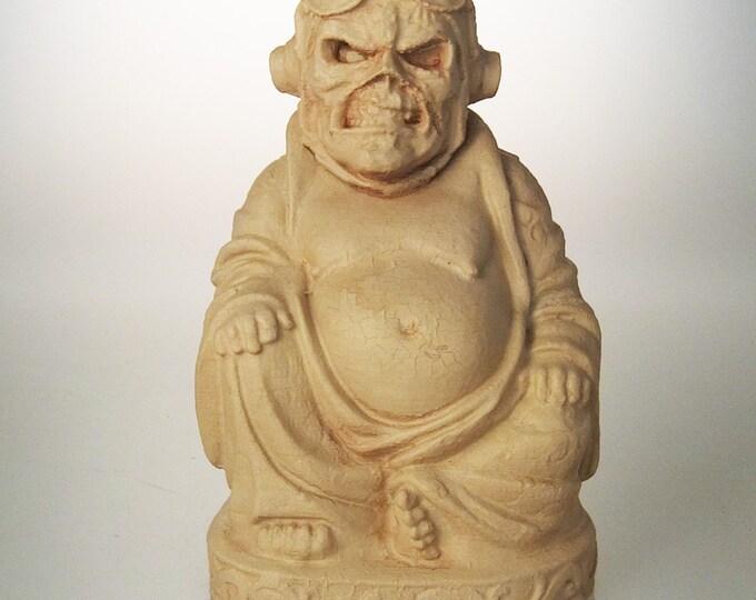 """Iron Maiden - Eddie """"Aces High"""" Buddha (Antiqued Sand)"""