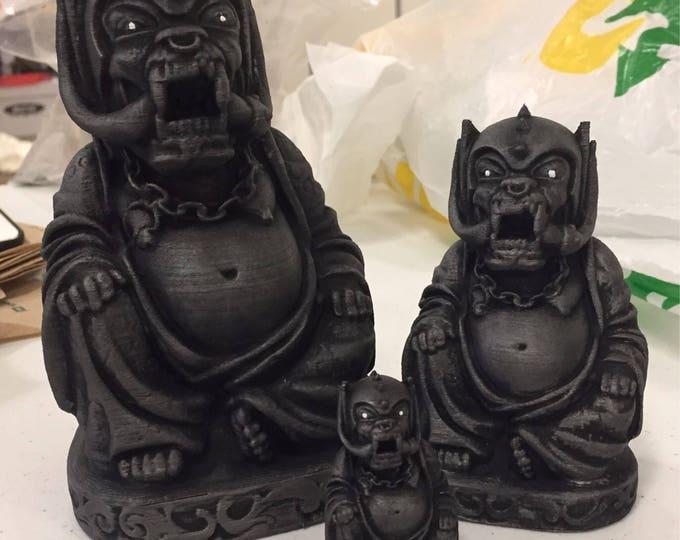 Motorhead - War Pig Buddha - Fan Art Sculpture - Hammered Iron Faux Finish