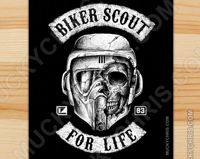 Biker Scout - Sticker