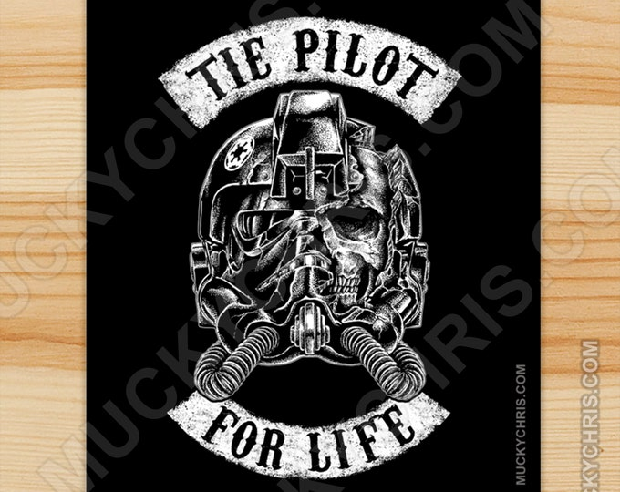 Tie Pilot for Life - Sticker