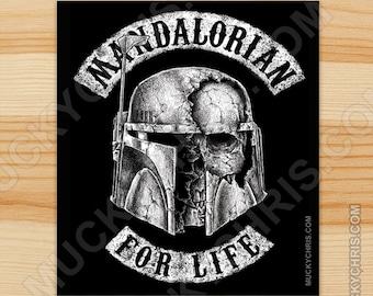 Mandalorian for Life - Sticker