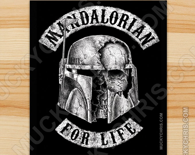 Mandalorian for Life - Sticker