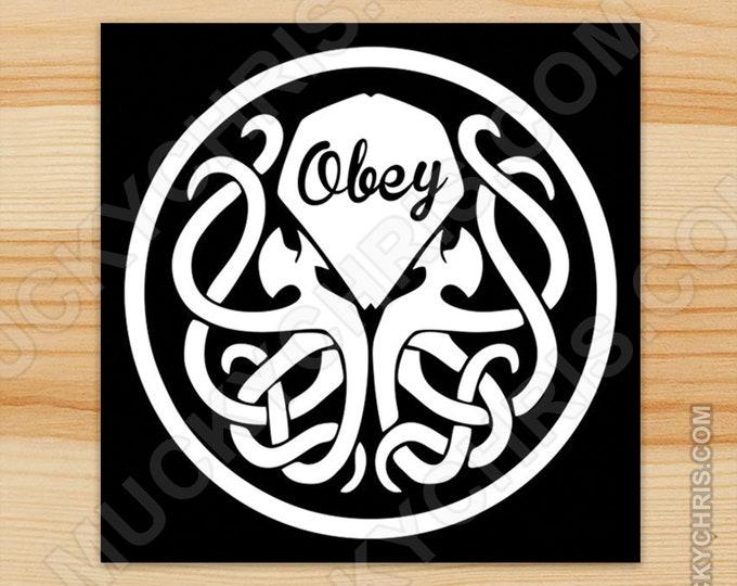 OBEY Cthulhu - Sticker