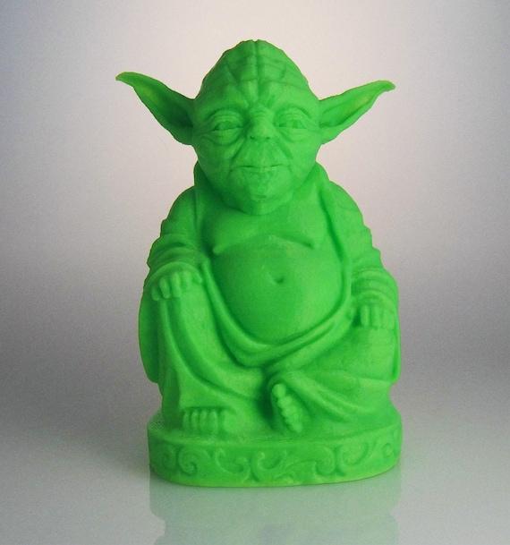 Yoda Buddha Statue Mint Green 2