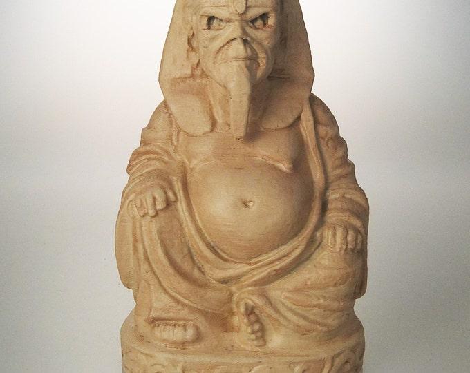 """Iron Maiden Eddie """"Powerslave"""" Buddha (Antiqued Sand)"""