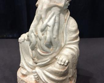 Cthulhu Buddha - Fan Art Sculpture -  Antiqued Sand Finish