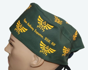 703f6834c2f Solid Color Legend of Zelda The Hylian Crest Silhouette Scrub Hat
