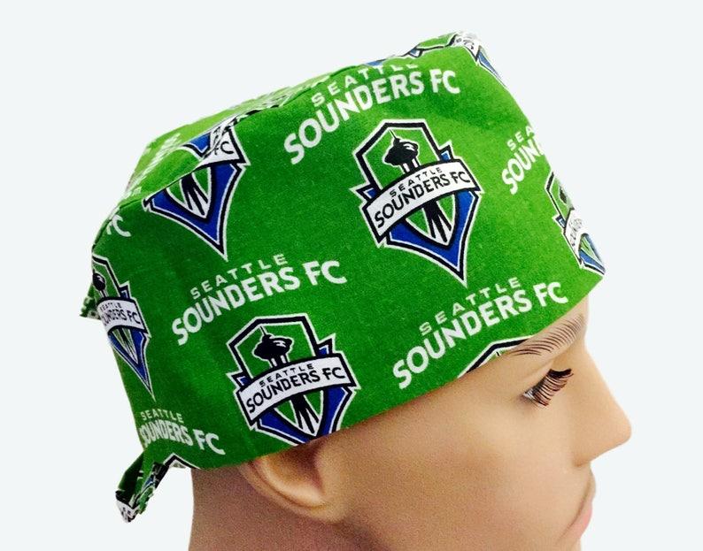 half off 371f8 08364 Seattle Sounders Scrub Cap Soccer Scrub Hat Scrub Cap   Etsy