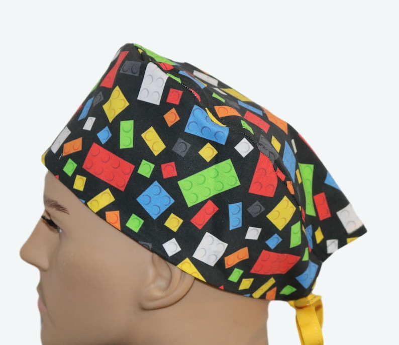 Colorful Legos on Black scrub hat Children's Toys The image 0