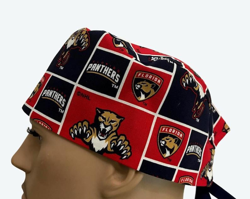 21b4e080fe0544 Florida Panthers Scrub Cap Florida Hockey Team Scrub Hats | Etsy