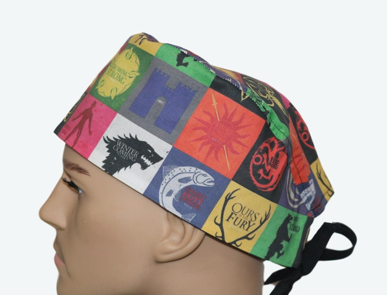Game of Thrones scrub hat Winter is Coming Map Scrub CapTV image 0