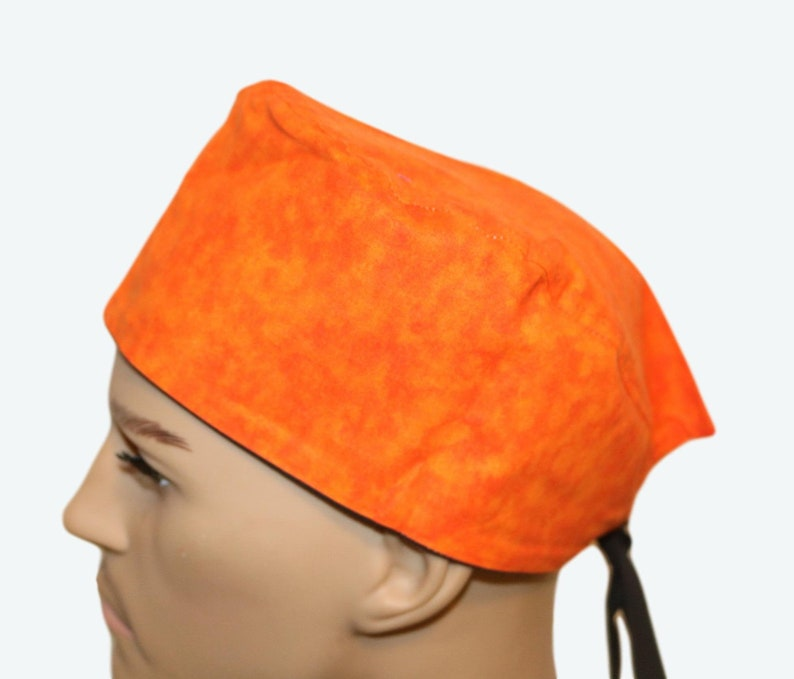 Orange Tie Dye scrub hats Unisex Scrub Cap-Orange Design Scrub image 0