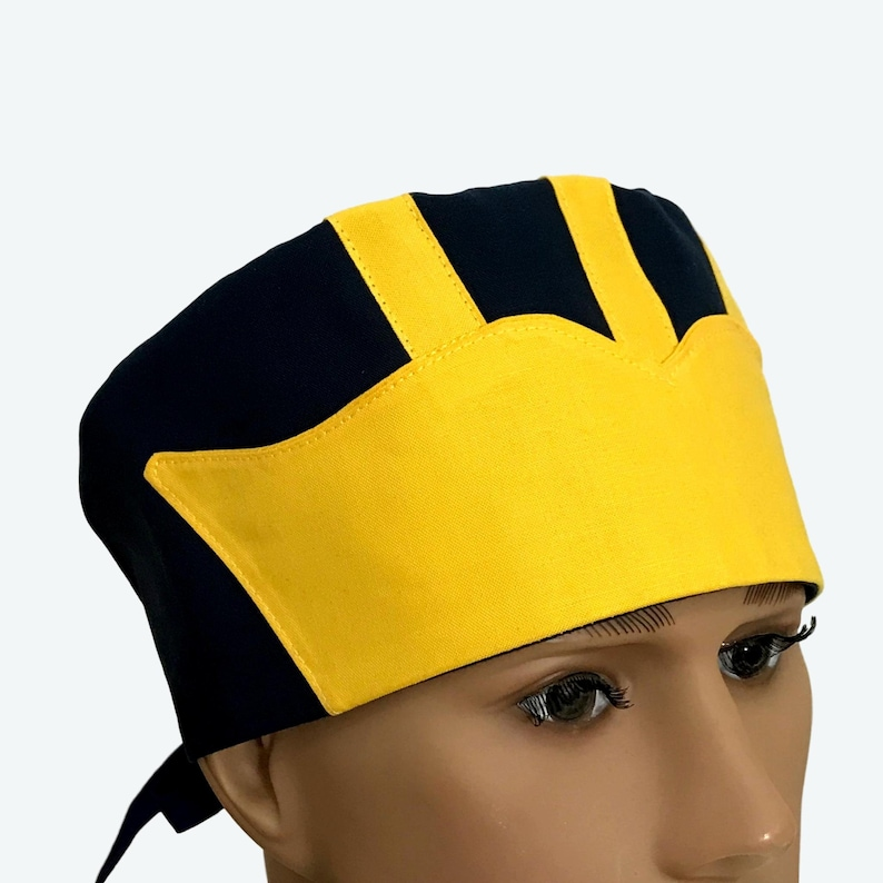 University of Michigan Inspired Helmet Scrub Cap Wolverine image 0