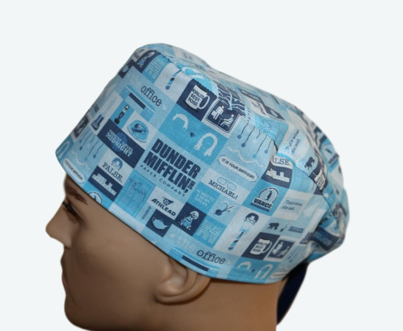 5b4dc8870 The Office scrub cap Famous TV Show Scrub Hat scrub hat | Etsy