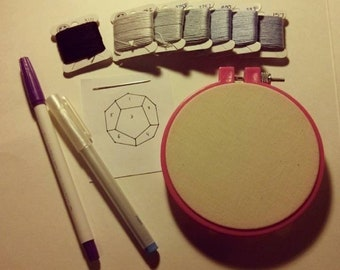 Dali Embroidery Kit - Abstract Embroidery Workshop