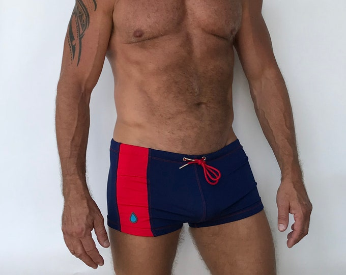 Featured listing image: Key Pocket Swim Short Navy Red