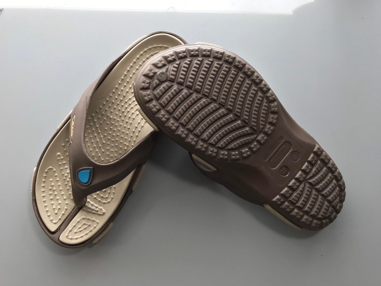 3b22491271b7 Gett Wett Flip Flops by Air Balance Brown and Khaki