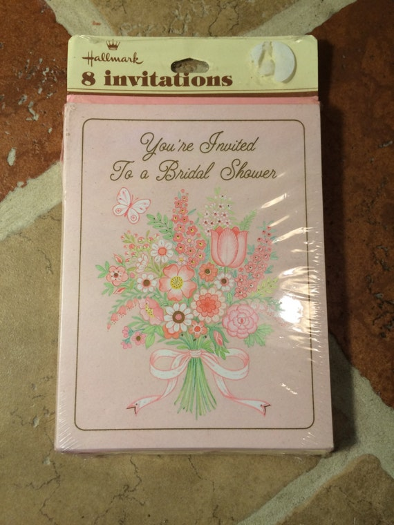 Vintage hallmark bridal shower invitations free shipping etsy image 0 filmwisefo