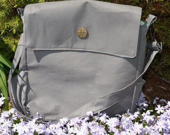 Small diaper bag/ tote gray