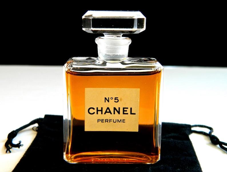 91f0e695fac6 Vintage CHANEL No 5 Pure Perfume .50 oz Early 1960s Crystal | Etsy