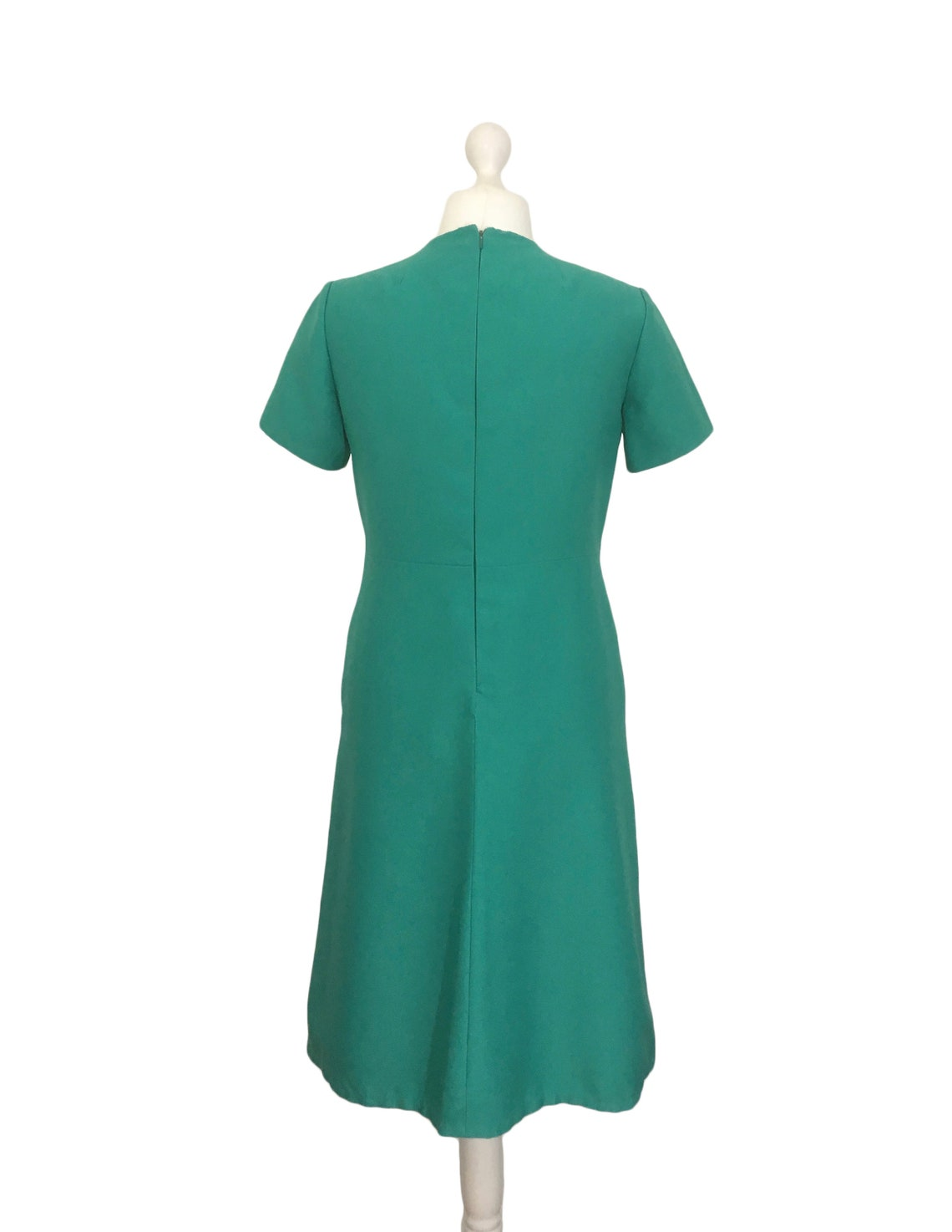 1960's Dress Size 16 Sea Green Vintage Day Dress