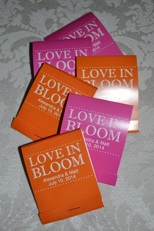 150 Custom Forget Me Not Flower Seed Wedding Favor Matchbooks