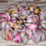 Woolly Buns - 'Tender Winter' - Merino fibers finely blended by Spinning Mermaid - 3.5 - 3.8 oz