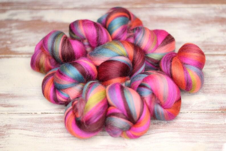 Woolly Buns  'Jaipur at Night'  Merino fibers finely image 0