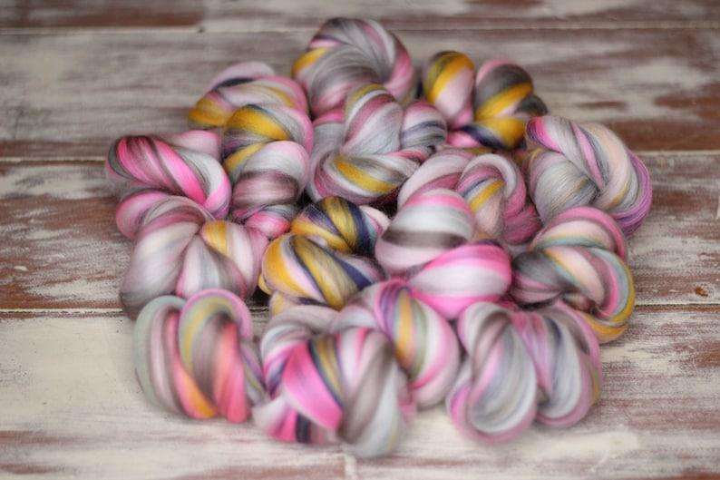 Woolly Buns  'Tender Winter'  Merino fibers finely image 0
