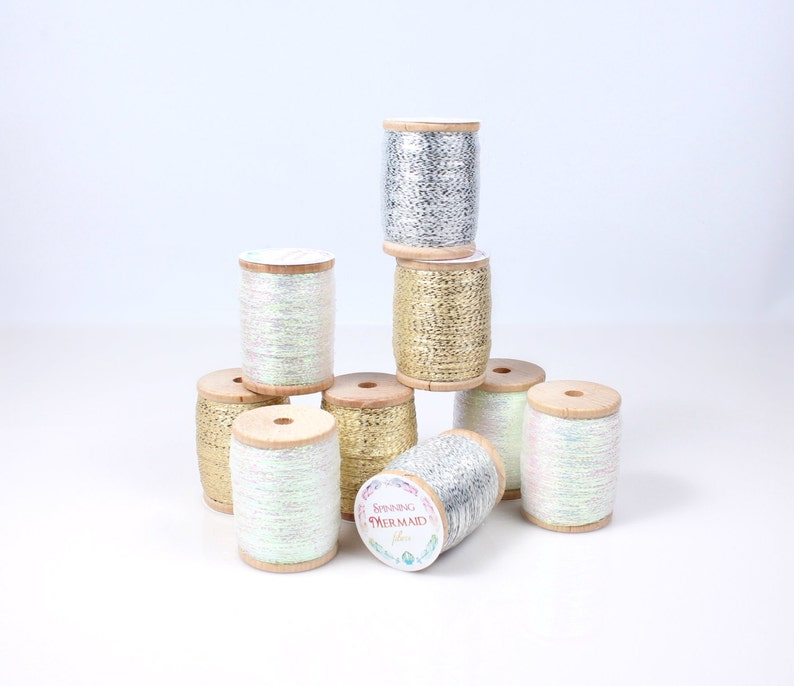 Metallic plying thread for spinning  embellishment in a image 0