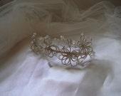 Fleur - Crystal Beaded Side Tiara