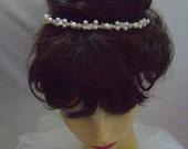 Cam - Bridesmaid Crystal & Pearl Tiara