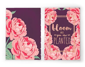 Bloom Planner Cover for use with Erin Condren Lifeplanners™, Staples® Arc, The Happy Planner™, and TUL™