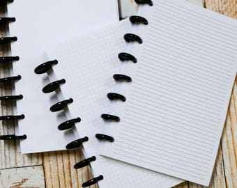 Coverless Journal Notebook | DIY Build Your Own Journal | Discbound Dot Grid Graph Lines Blank