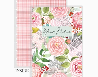 Pink Abstract Discbound Replacement Planner Cover