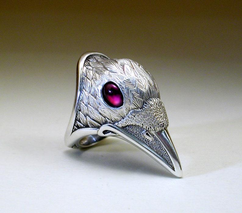 White Spirit Raven Ring image 0