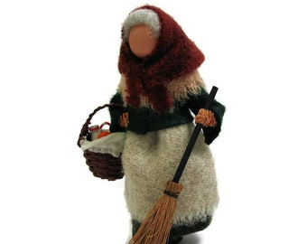 La Befana Christmas Ornament Clothespin Witch Italian Santa Folk Tale Exchange Peg Doll