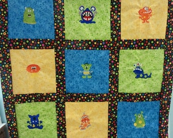 Monster Embroidery Quilt