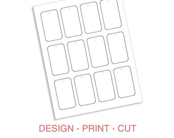 Instant Download: Luggage Tag Gift Tag Printable Template