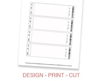 event ticket photo invitation template printable diy make etsy