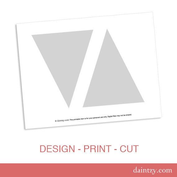 Partei Druckvorlage DIY Dreieck Banner Flag Design-Vorlage