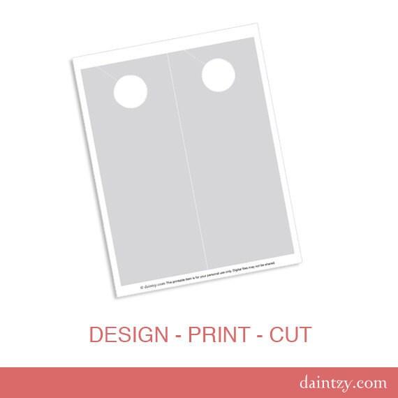 Design Your Own Door Hangers: Door Hanger Printable Template DIY Make Your Own Room Door