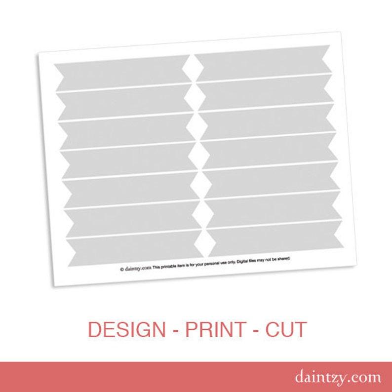 Cupcake Flag Printable Template Diy Blank Make Your Own Etsy